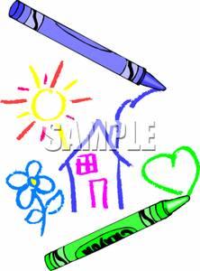 Crayon clipart crayon drawing Drawing Crayon Clipart
