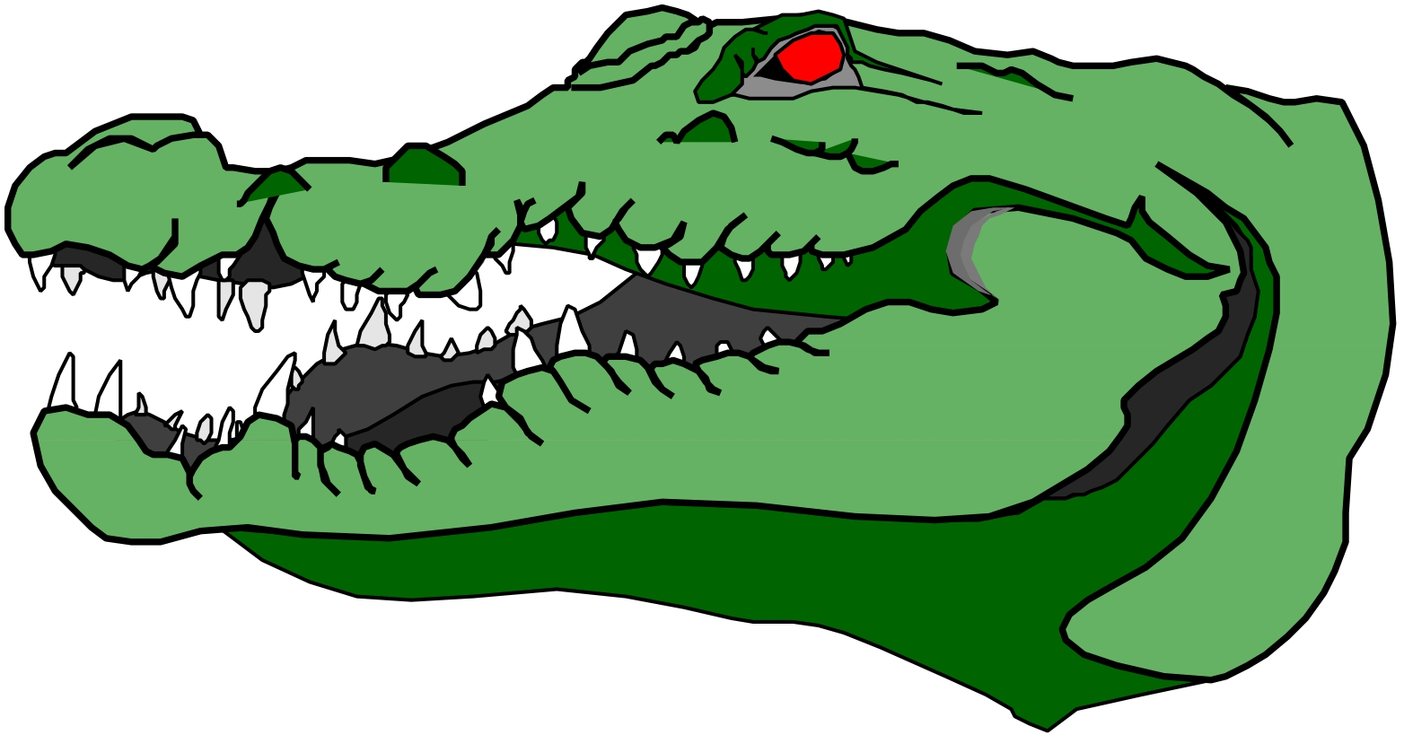 Alligator clipart mean Images about Pinterest  gator