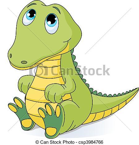 Alligator clipart sketch Illustration baby Art  crocodile