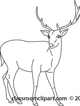 Dear clipart black and white Danasrij deer black buck white