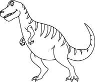 Black Outline Pictures tryannosaurus Size: