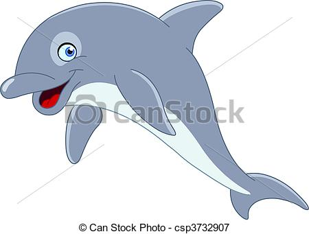 Drawn dolphins cute Of Vectors Cute csp3732907 Dolphin