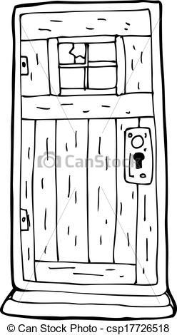 Door clipart wood door Door cartoon Clip old of