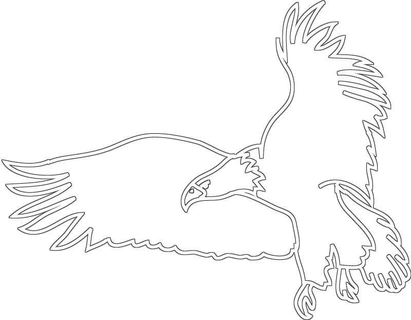 Eagle clipart line drawing Clipart  silhouette black Bird