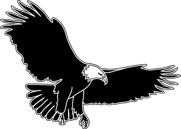 Bald Eagle clipart black and white Free eagle eagle images clipart