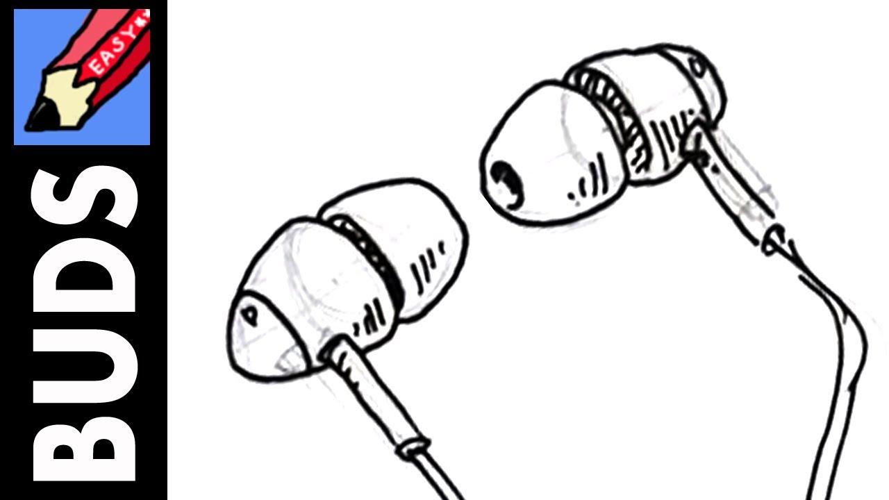 Drawn headphone earbud #11