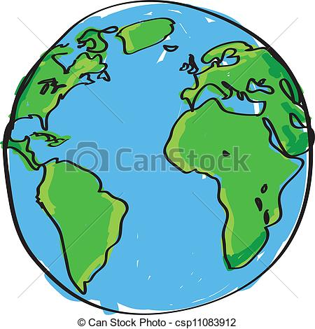 Drawn earth Csp11083912 Search Clip Hand drawn