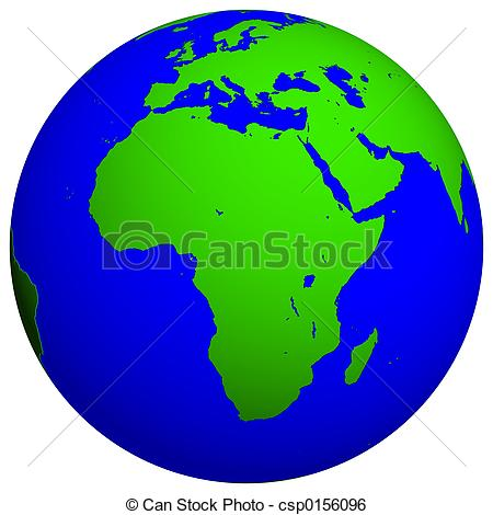 Continent clipart earth's Stock continent  Globe csp0156096