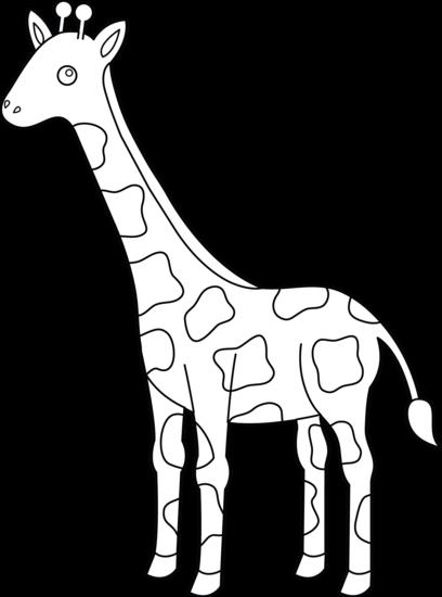 Black & White clipart giraffe Images giraffe free design WikiClipArt
