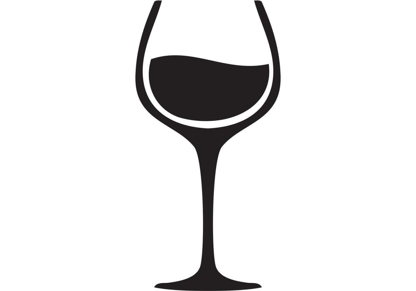 Black clipart wine glass #8