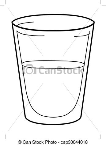 Monochrome clipart glass Glass water of glass of