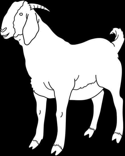 Black & White clipart goat Page Free Art Goat Goat