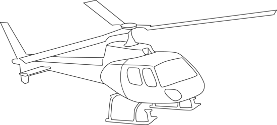 Black & White clipart helicopter Helicopter Art Page Coloring Clip