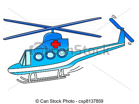 Drawn helicopter icon Illustration Stock Rescue air