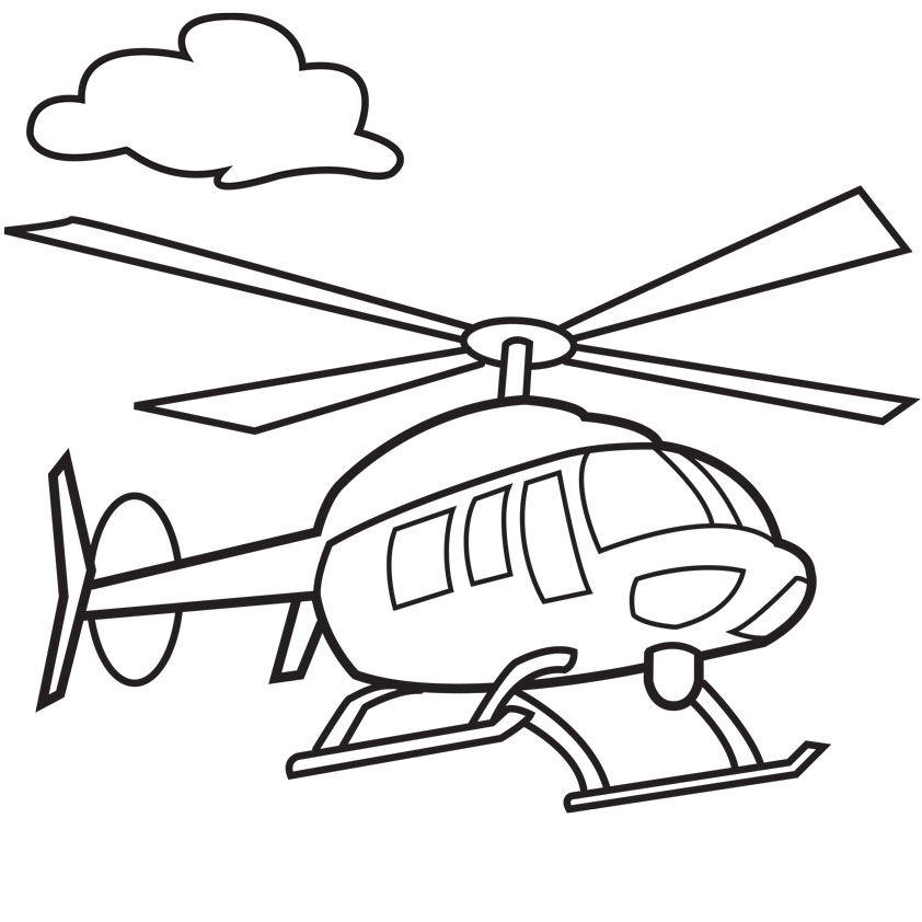 Drawn helicopter colouring page Military How Clipart Free Kids