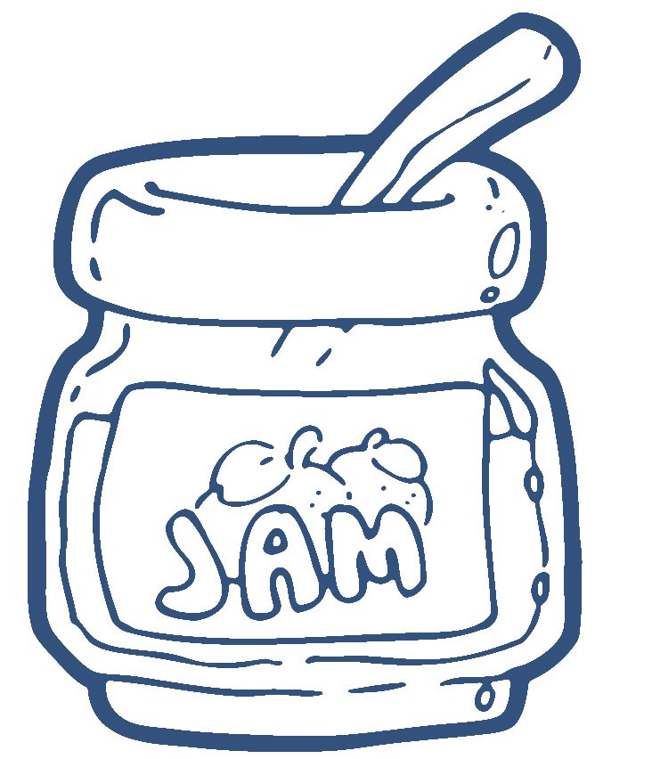 Jam clipart outline Jam clipart clipart and jam