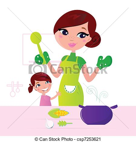 Mommy clipart cooking Food in healthy child food