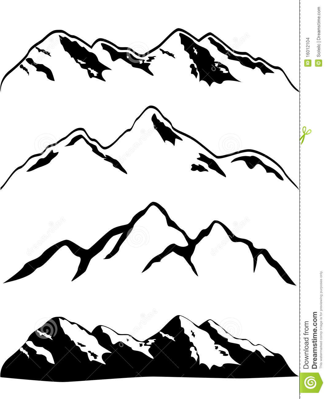 Drawn mountain nature Mountain Drawing  > Outline