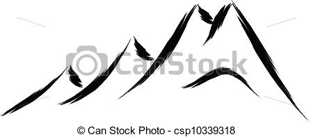 Abstract clipart mountain Vector of Art Vector sketch