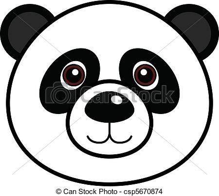 Red Panda clipart panda head #2