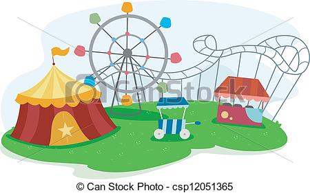 Park clipart school ground Vectors Park Theme a of