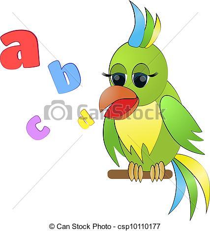 Parrot clipart talking bird Illustration csp10110177 parrot Talking of