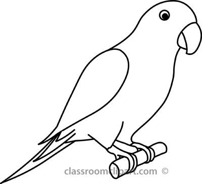 Monochrome clipart parrot And Clipart Images Clipart Panda