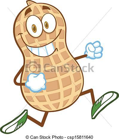 Peanut clipart logo Vector  csp15811640 Peanut Character