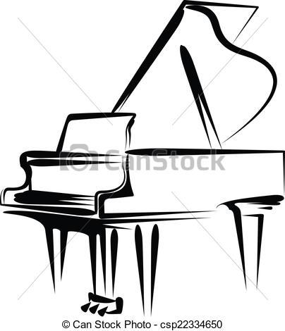 Piano clipart artwork A  piano grand illustration