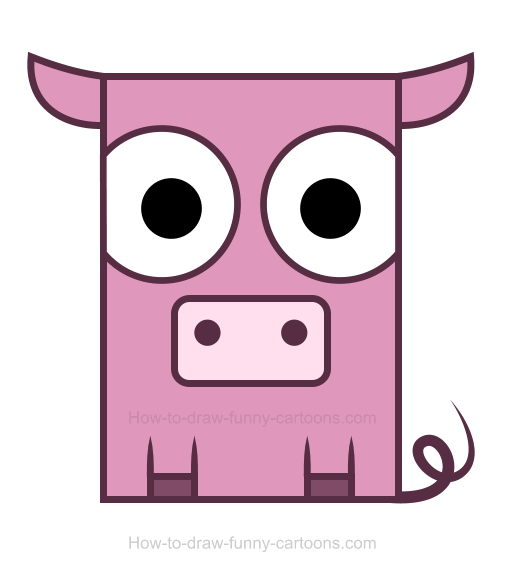 Pig clipart drawing To Pig How Draw Pig