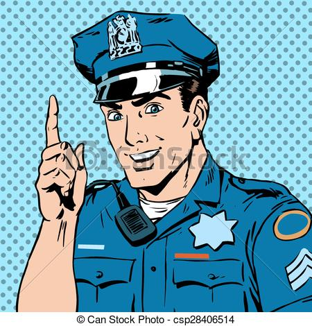 Drawing clipart police officer #14