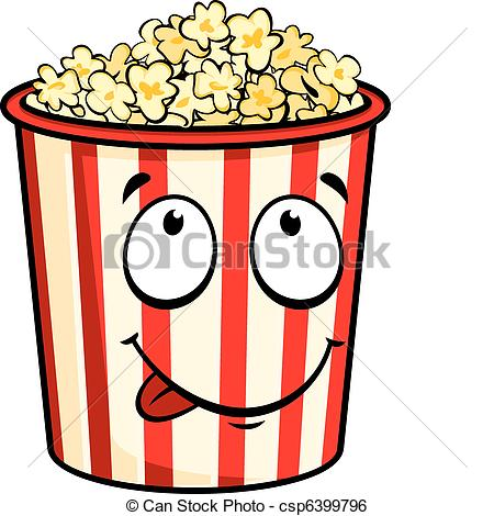 Drawn popcorn cute cartoon #13