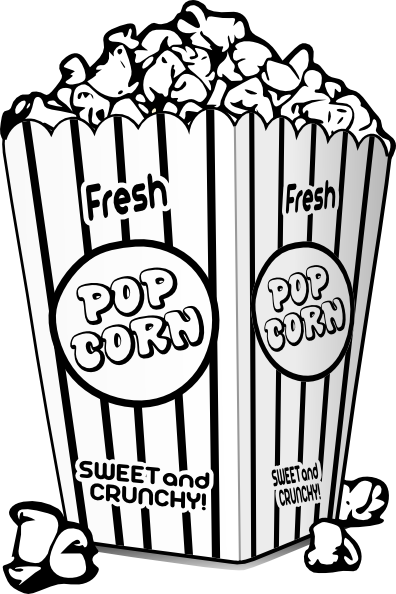 Drawn popcorn animated #14