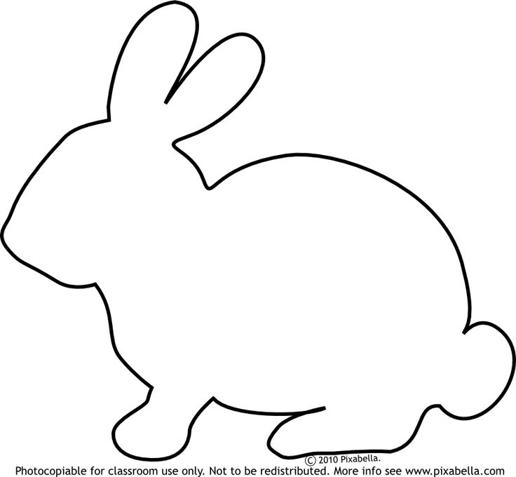 Drawn rabbit template Quilt Google clipart bunny baby