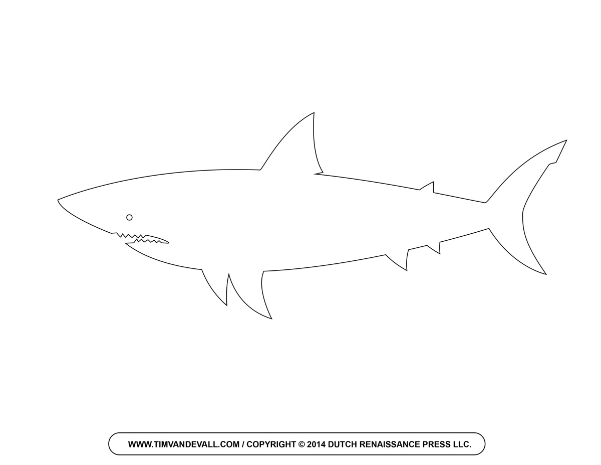 Drawn shark vintage Free Cartoon Shark Shark Clipart