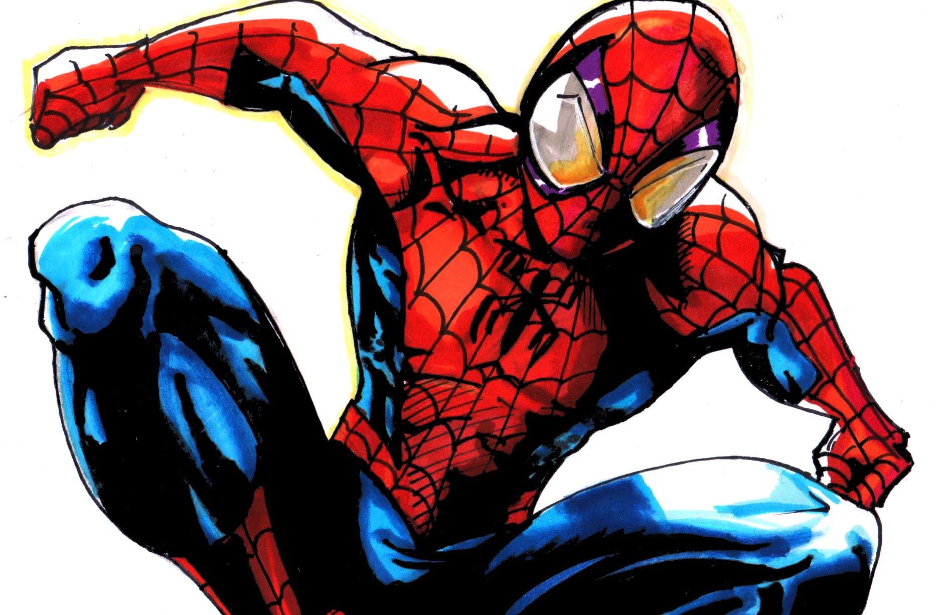 Drawn spider-man ultimate spiderman #13