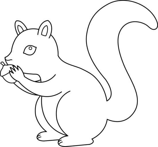 Drawn rodent basic Art Squirrel Outline Clip Art
