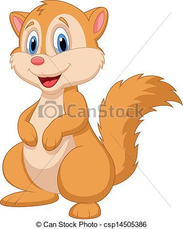 Chipmunk clipart cute Csp14505386 Cute of Cute Vector