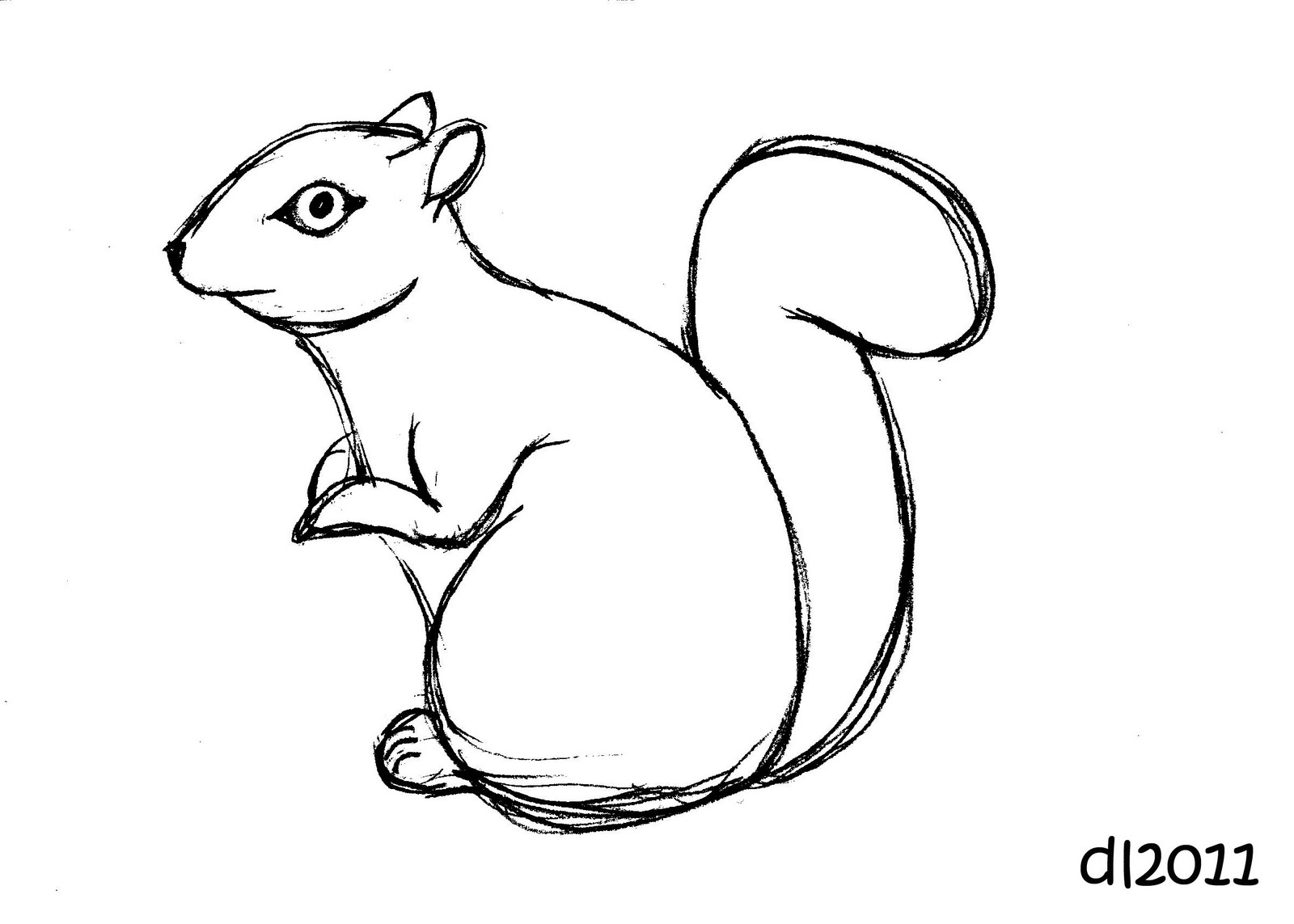 Drawn rodent pc mouse Drawing Panda squirrel%20drawing Squirrel Free