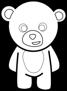 Drawn head indian elephant Online Outline clip com Bear