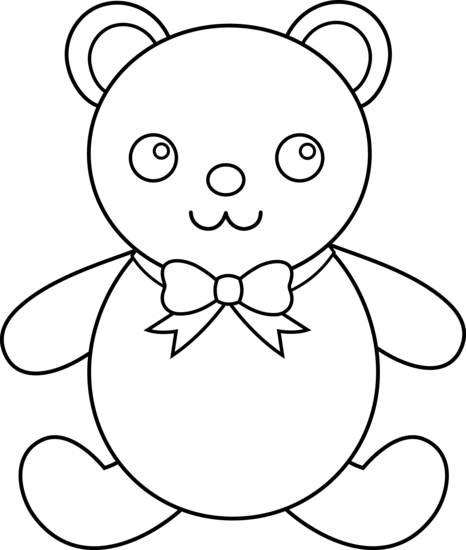 Teddy clipart outline Free Art Drawing Bear Kids