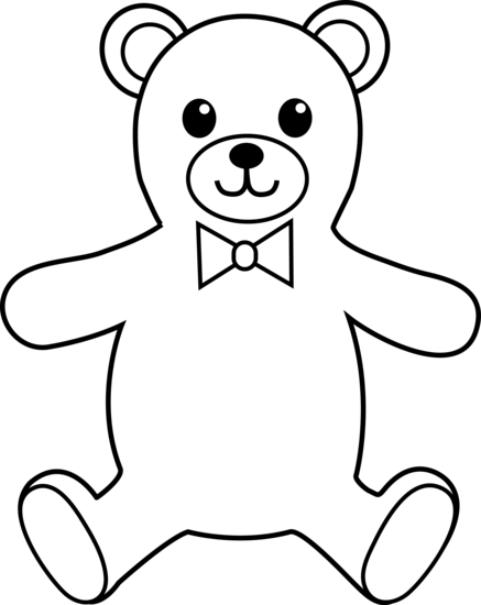 Teddy clipart black and white Clipart draw a teddy com