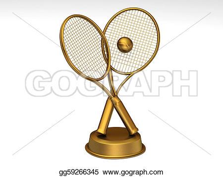 Trophy clipart tennis trophy Trophy Drawing tennis Golden golden