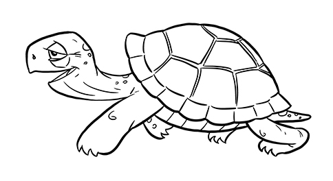 Drawn shell animated Free by Free Turtle: Cartoon