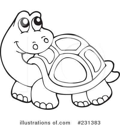 Tortoise clipart black and white #11
