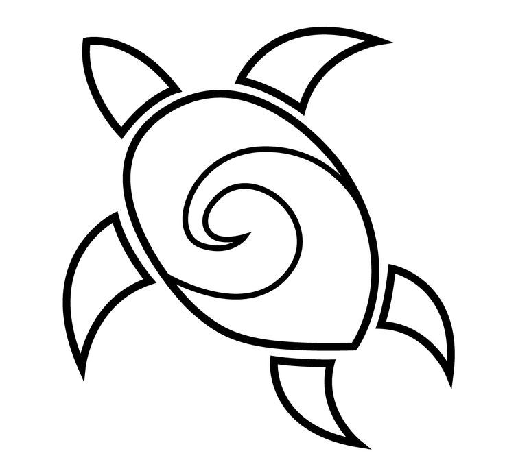 Simple clipart turtle #1