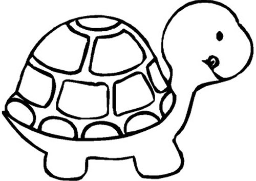 Tortoise clipart black and white #1
