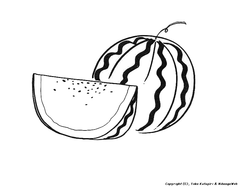 Drawn watermelon black and white Images Clipart Free Heirloom Clipart