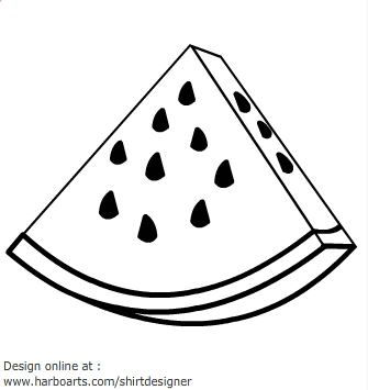 Monochrome clipart watermelon Watermelon White Summer Pix Black