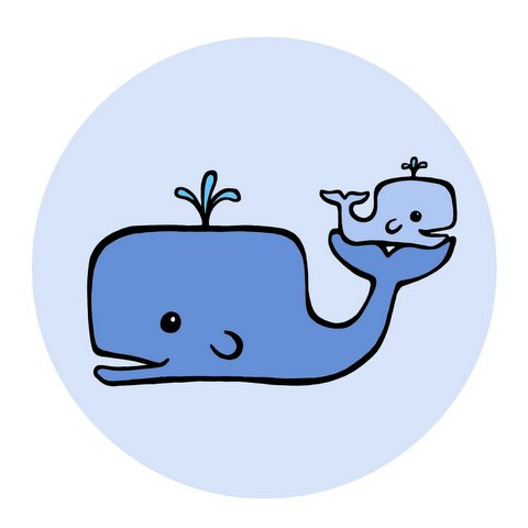Drawn whale baby whale Jpeg Clip #20276 Clipartion com